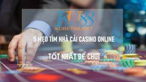 nhà cái casino online tốt nhất
